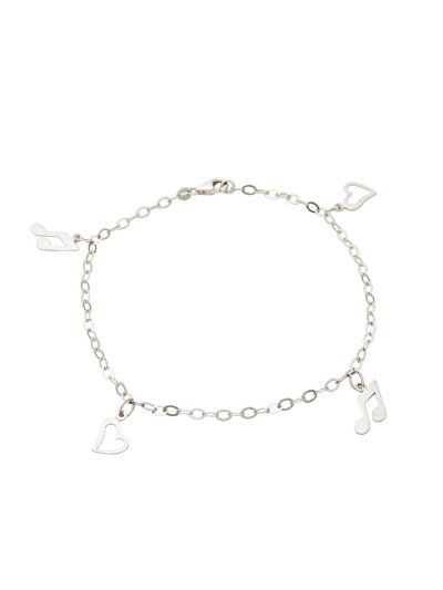 Love Music Chimes Bracelet in 18K White Gold