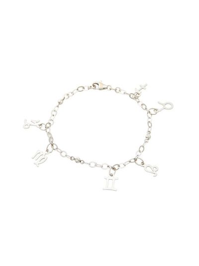 Love Sign Chimes Bracelet in 18K White Gold