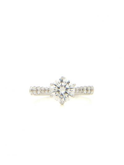 0.73 Carat Preset Reve Diamond Ring in 18K White Gold