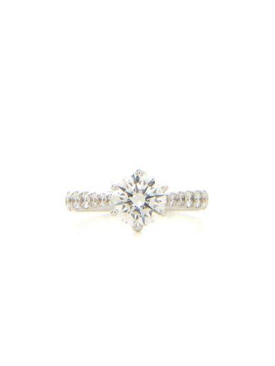 0.73 Carat Preset Reve Diamond Ring in 18K White Gold