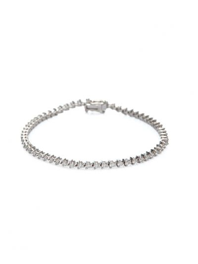 Classic 3-Prongs Tennis Bracelet (1.47ct. tw.) in 18K White Gold