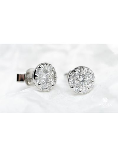 Wedding Diamond Earrings (1.07ct. tw.) in 18K White Gold